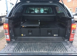 226MM Twin Drawers & Top Locking Pods & Tailgate Gap Flap & Narrow Slide