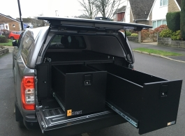 500MM Twin Drawers & Front Locking Pods & Tailgate Gap Flap