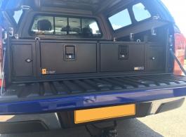 300MM Twin Drawer & Locking Pods &  Tailgate Gap Flap