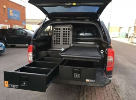 226MM Twin Drawers & Infill pods & Narrow Slide & Dog Box
