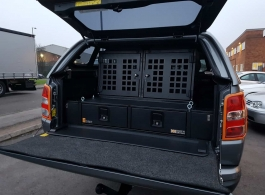 226MM Twin Drawers & Infill Pods & Tailgate Gap Flap & 2 Dog Boxes