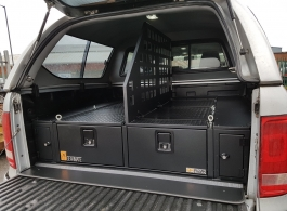 300MM Twin Drawers, Front Locking Pods, Tailgate Gap Flap &  Central Divider