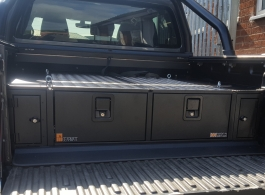 300MM Twin Drawer & Front Locking Pods  & Tailgate Gap Flap