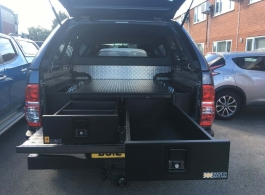 226MM Twin Drawers & Infill Pods & Tailgate Gap Flap & Double Dog Box