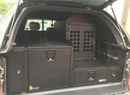 500MM Half Drawer & 226MM Half Drawer & Front Locking Pods & Dog Box