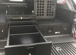 226MM Half Drawer & 300MM Half Drawer & Front Locking Pods & Tailgate Gap  Flap & Narrow Slide & Dog Box