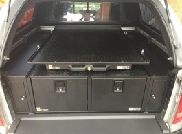 400MM Twin Drawers & Front Top Locking Pods & Tailgate Gap Flap & Gearslide Top