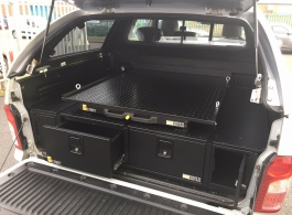 300MM Twin Drawers & Front Locking Pods  & Gearslide Top
