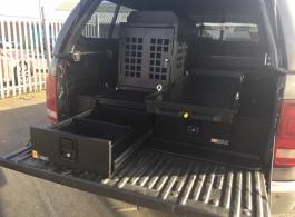 226MM Twin Drawers & Top Locking Pods & Tailgate Gap Flap & Narrow Slide & Dog Box