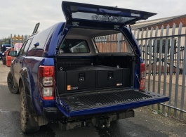 Ford Ranger | 300MM Twin Drawers & Infill Pods & Gull Wing Hardtop