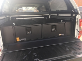 Nissan Navara | 300MM Twin Drawer & Infill Pods & Tailgate Gap Flap