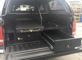 226MM Twin Drawer & Front Locking Pods & Narrow Slide &  Central Slide