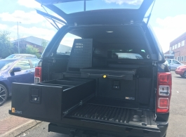 300MM Twin Drawer & Infill Pods & Narrow Slide & Racking & Tailgate Gap Flap