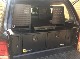 400MM Twin Drawers & Front Locking Pods & Central Slide & Rackings & Tailgate Gap Flap