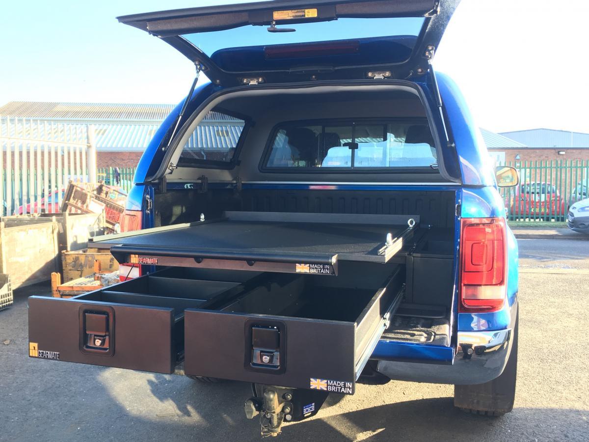 Volkswagen Amarok | 226MM Twin Drawers & Infill Pods & Tailgate Gap Flap & Gearslide top