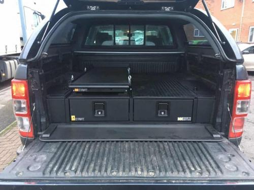Ford Ranger | Gearmate 226MM Twin Drawers & Top Locking Pods & Tailgate Gap Flap & Narrow Slide