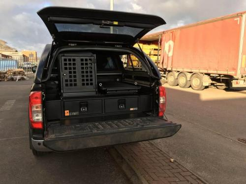 Nissan Navara | 226MM Twin Drawers & Infill pods & Narrow Slide & Dog Box