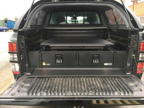 Ford Ranger | Gearmate 226MM Twin Drawers & Infill Pods & Tailgate Gap Flap & Gearslide top