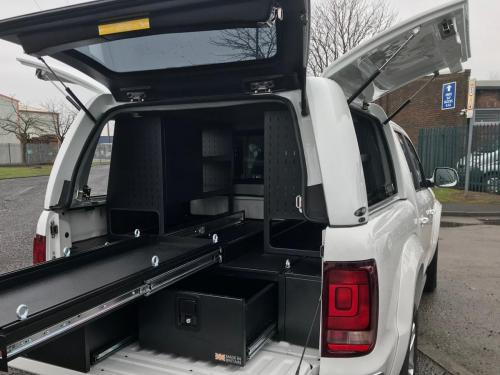 Volkswagen Amarok | 300MM Twin Drawer, Infill Pods, Central Slide, Racking