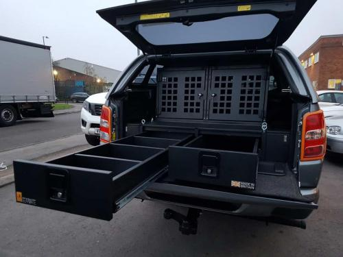 Mitsubishi L200 | Gearmate 226MM Twin Drawers & Infill Pods & Tailgate Gap Flap & 2 Dog Boxes
