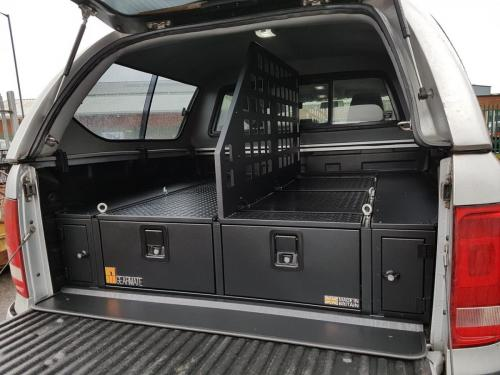 Volkswagen Amarok | 300MM Twin Drawers, Front Locking Pods, Tailgate Gap Flap &  Central Divider