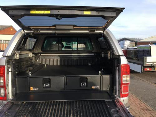Ford Ranger | 226MM Twin Drawers & Top Locking Pods & Tailgate Gap Flap