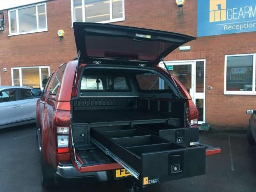 Isuzu D-Max | Gearmate 226MM Twin Drawers & Front Locking Pods & Tailgate Gap Flap