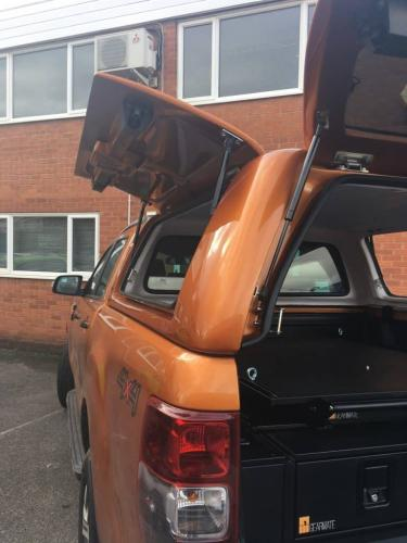 Ford Ranger | Gearmate Gull Wing Hardtop & 226MM Twin Drawers & Infill Pods & Tailgate Gap Flap & Gearslide top