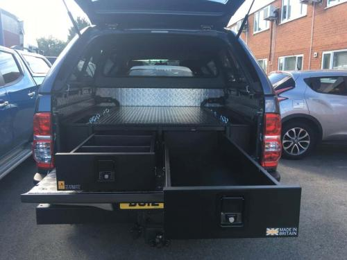 Toyota Hilux | Gearmate 226MM Twin Drawers & Infill Pods & Tailgate Gap Flap & Double Dog Box