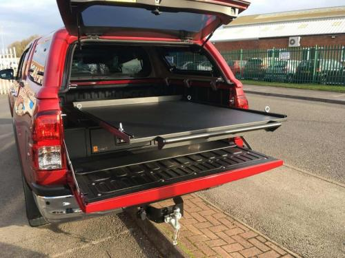Toyota Hilux | Gearmate 226MM Twin Drawers & Infill Pods & Tailgate Gap Flap & Gearslide top