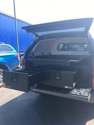 Ford Ranger | 300MM Twin Drawers & Infill pods & Gearslide top