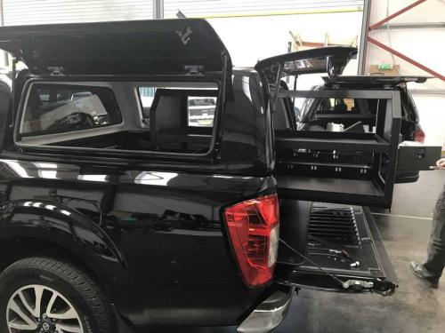 Nissan Navara | Gearmate Gull Wing Hardtop & 226MM Twin Drawers & Gearslide top & Infill Pods & Tailgate Gap Flap & Racking