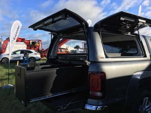 Volkwagen Amarok | 500MM Twin Drawers & Gearslide & Gearmate Gull Wing Hardtop
