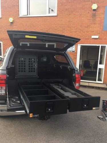 Ford Ranger | Gearmate 226MM Twin Drawers & Infill Pods & Tailgate Gap Flap & Dog box &  Bespoke Foam Insert