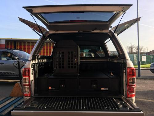 Ford Ranger | 226MM Twin Drawers & Locking Top Infill Pods & Tailgate Gap Flap & Dog box
