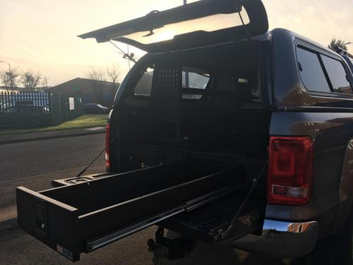 Volkswagen Amarok | 226MM Twin Drawer & Front Locking Pods & Racking