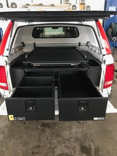 Volkswagen Amarok | 300MM Twin Drawer, Infill Pods, Tailgate Gap Flap and Gearslide top