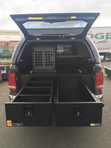 Volkswagen Amarok | 300MM Twin Drawer, Infill Pods, Tailgate Gap Flap, Dog Box