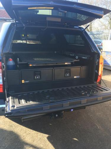 Mercedes X-Class | 226MM Twin Drawer, Infill Pods, Tailgate Gap Flap, Gearslide top