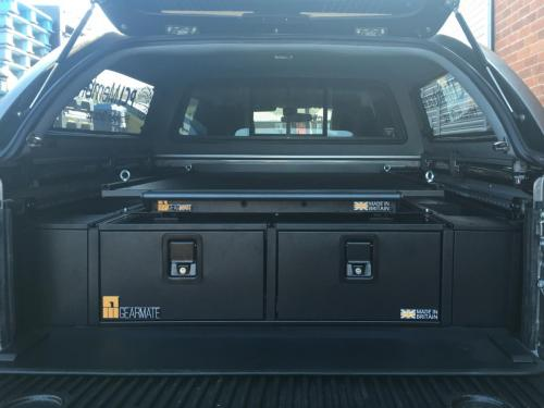 Nissan Navara | 300MM Twin Drawer, Infill Pods, Tailgate Gap Flap, Gearslide top