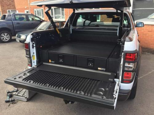 Ford Ranger | 226MM Twin Drawers & Infill Pods & Tailgate Gap Flap